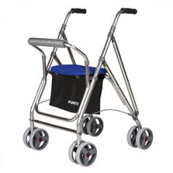 Andador aluminio plegable,...